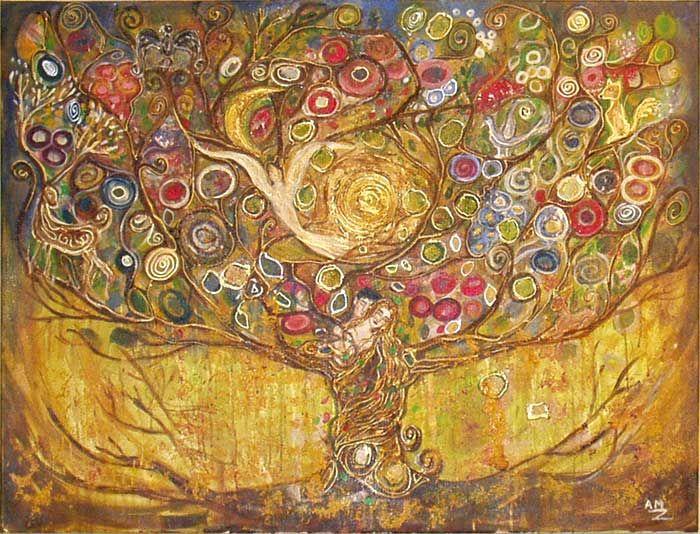 peinture onirique anne marie zilberman pinterest onirique peinture et arbre de vie. Black Bedroom Furniture Sets. Home Design Ideas