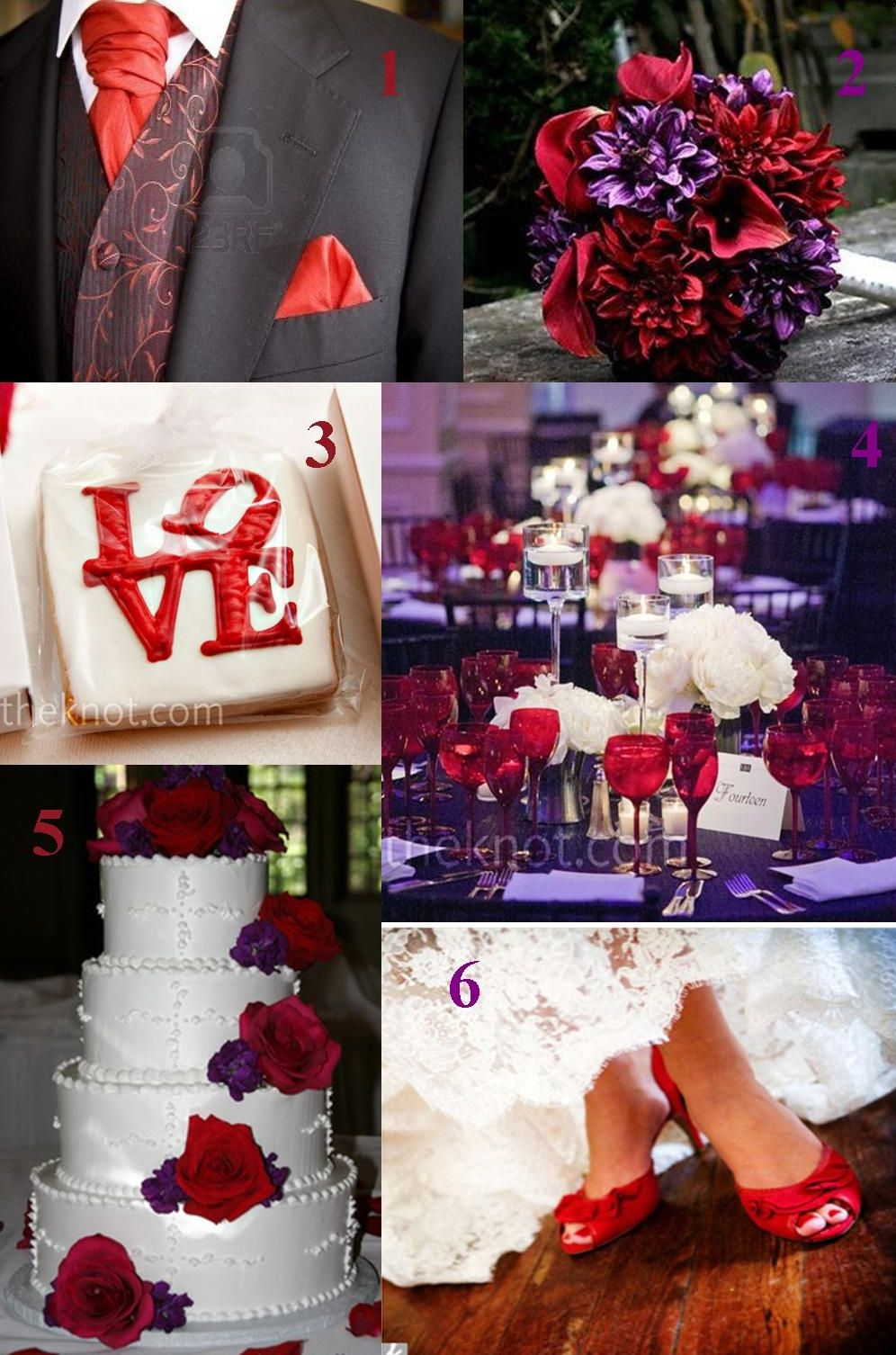 purple and red wedding theme - hmmmmmm interesting @Katie Schmeltzer ...