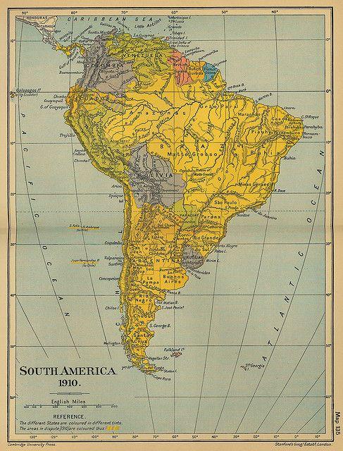 50 Mapa antiguo América del Sur (South America old map) | Maps ...
