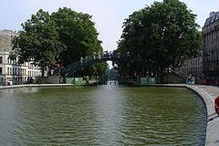 The Canal Saint-Martin neighborhood.
