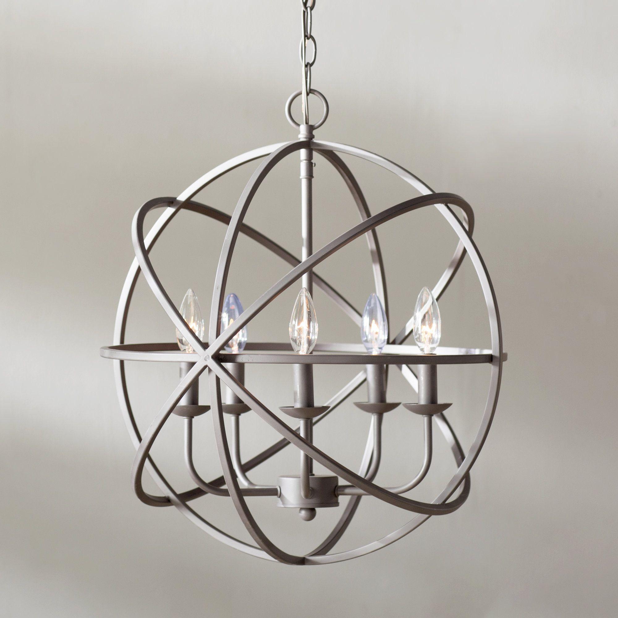 Hankinson 5light candle style globe chandelier in 2020