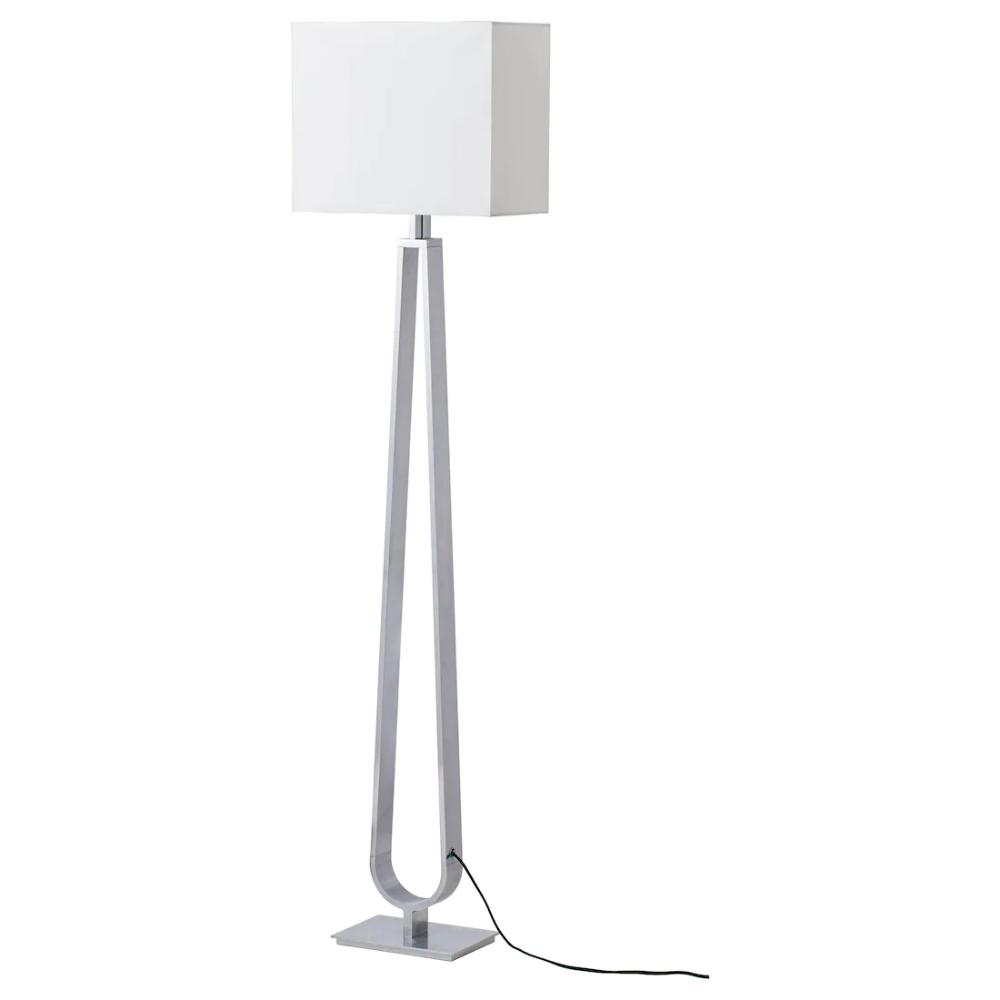 Klabb Floor Lamp With Led Bulb Off White Ikea In 2020 Floor Lamp Lamp Standing Lamp