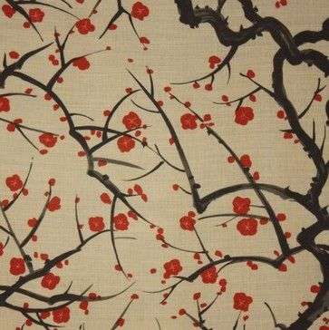 Clarence House Flowering Quince Wallpaper - traditional - wallpaper - holdenandjames.com