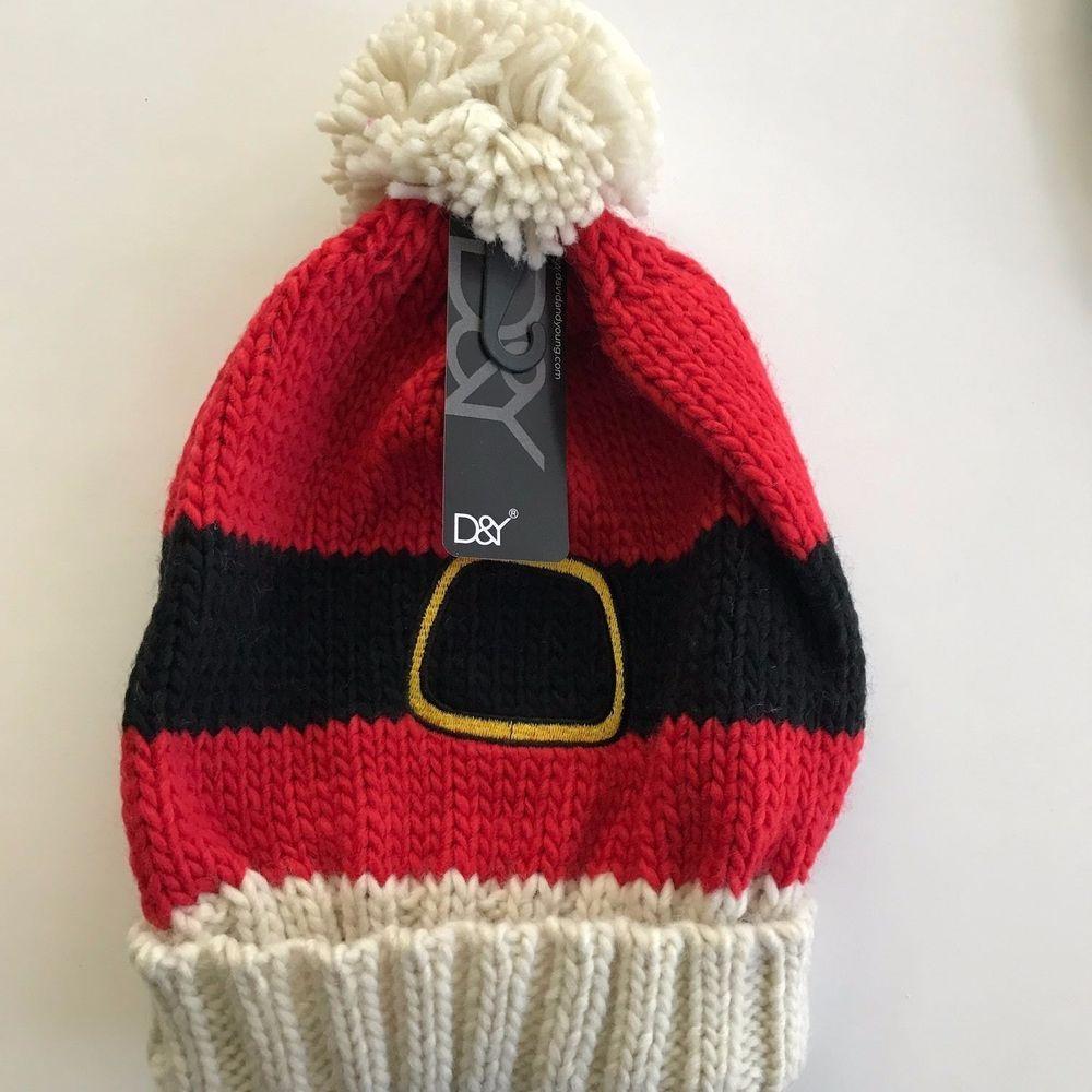 6f190ed71 Womens Ugly Christmas Santa Knit Hat Beanie Pom Pom #DY #Beanie ...
