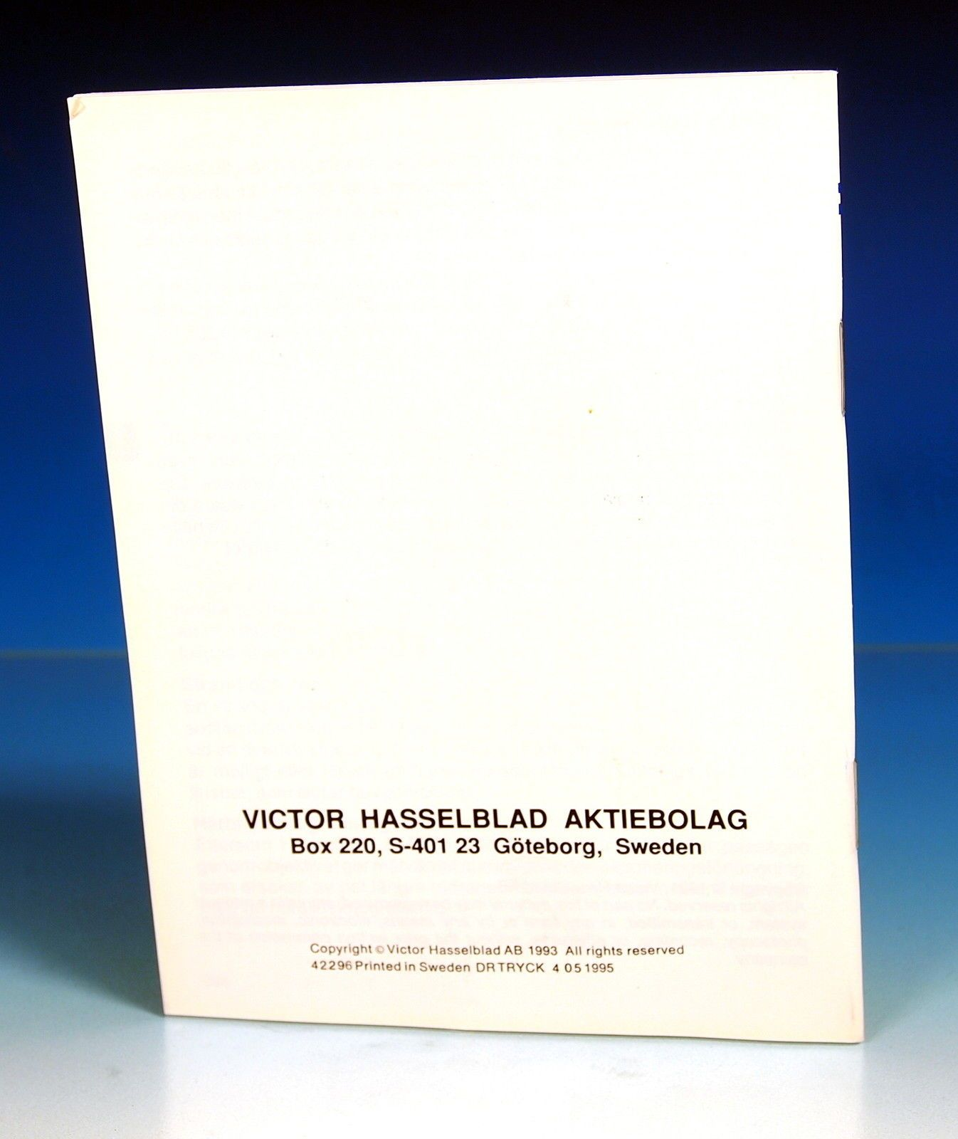 Hasselblad Gebrauchsanleitung PME 51 / PM 5 instruction manual ...