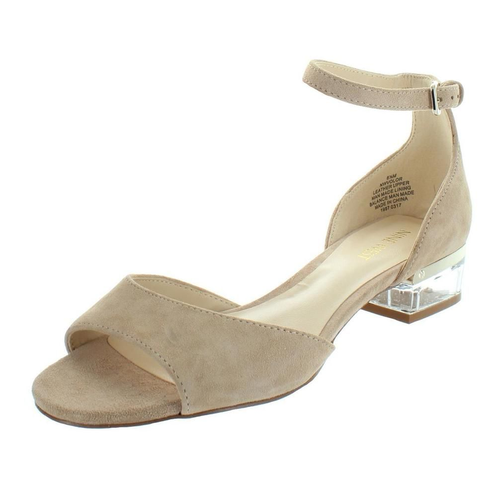 23c67ab592c Nine West Womens Volor Tan Suede Dress Sandals Shoes 12 Medium (B