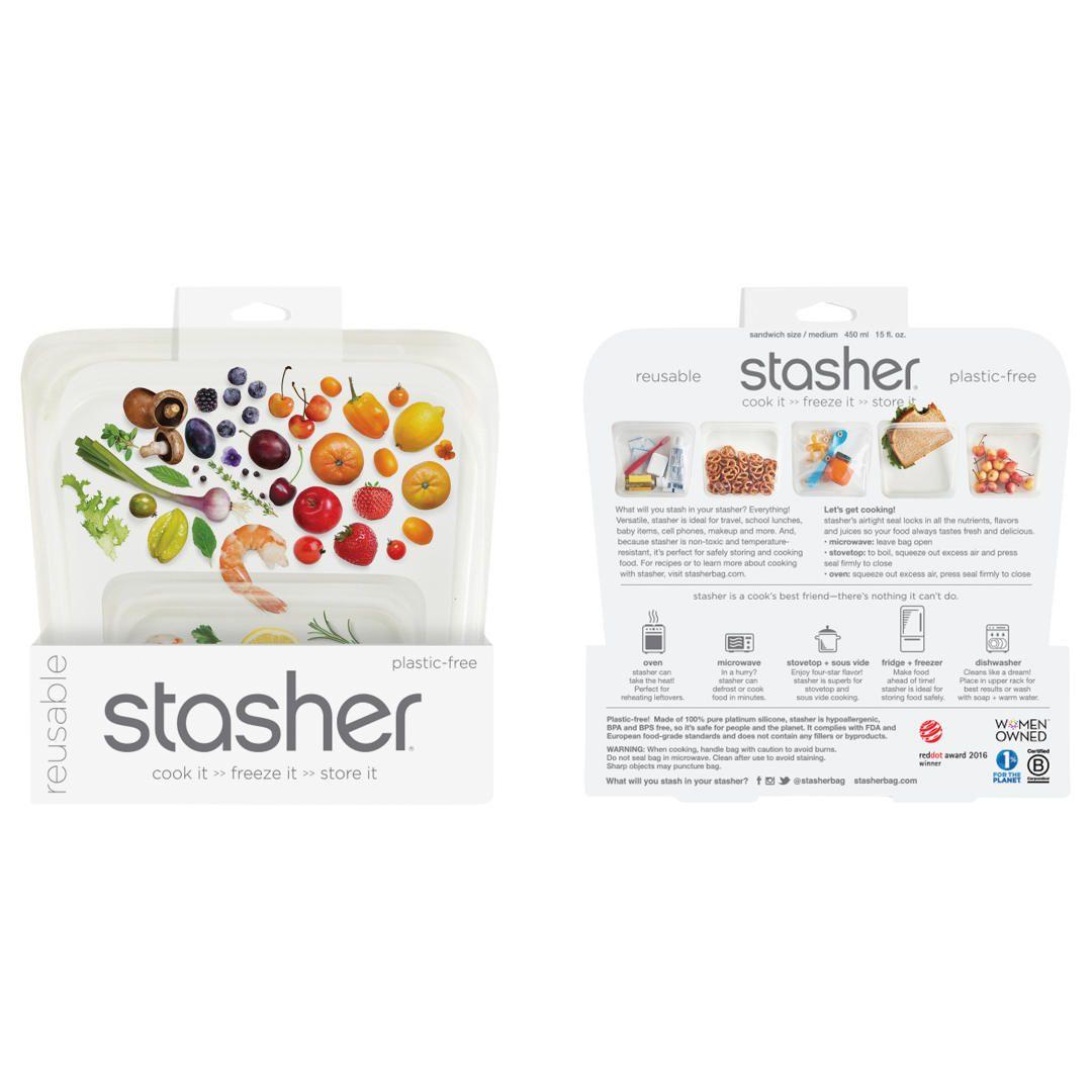 Buystasher Silicone Multi Purpose Kitchen Storage Bag Clear Regular Online At Johnlewis Com Bag Storage Kitchen Storage Storage