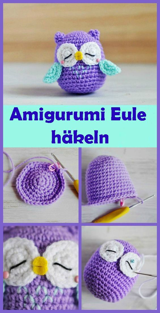 Amigurumi Eule häkeln - einfache DIY Anleitung #crochetdiy