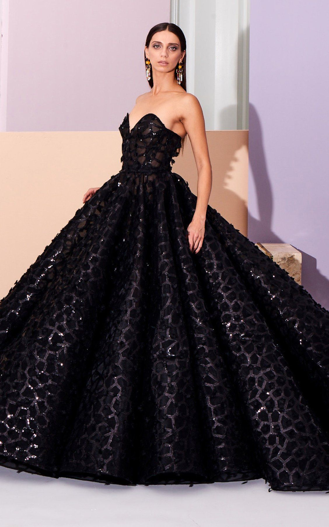 Sequined Embellished Ball Gown By Christian Siriano Pf19 Moda Operandi Ball Dresses Ball Gowns Formal Wear Dresses