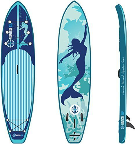 Hannah Mermaid Inflatable Sup Yoga Paddleboard With Bag Fin Pump Patch Kit Nautical Sup Http Www Paddle Board Yoga Inflatable Paddle Board Paddle Boarding