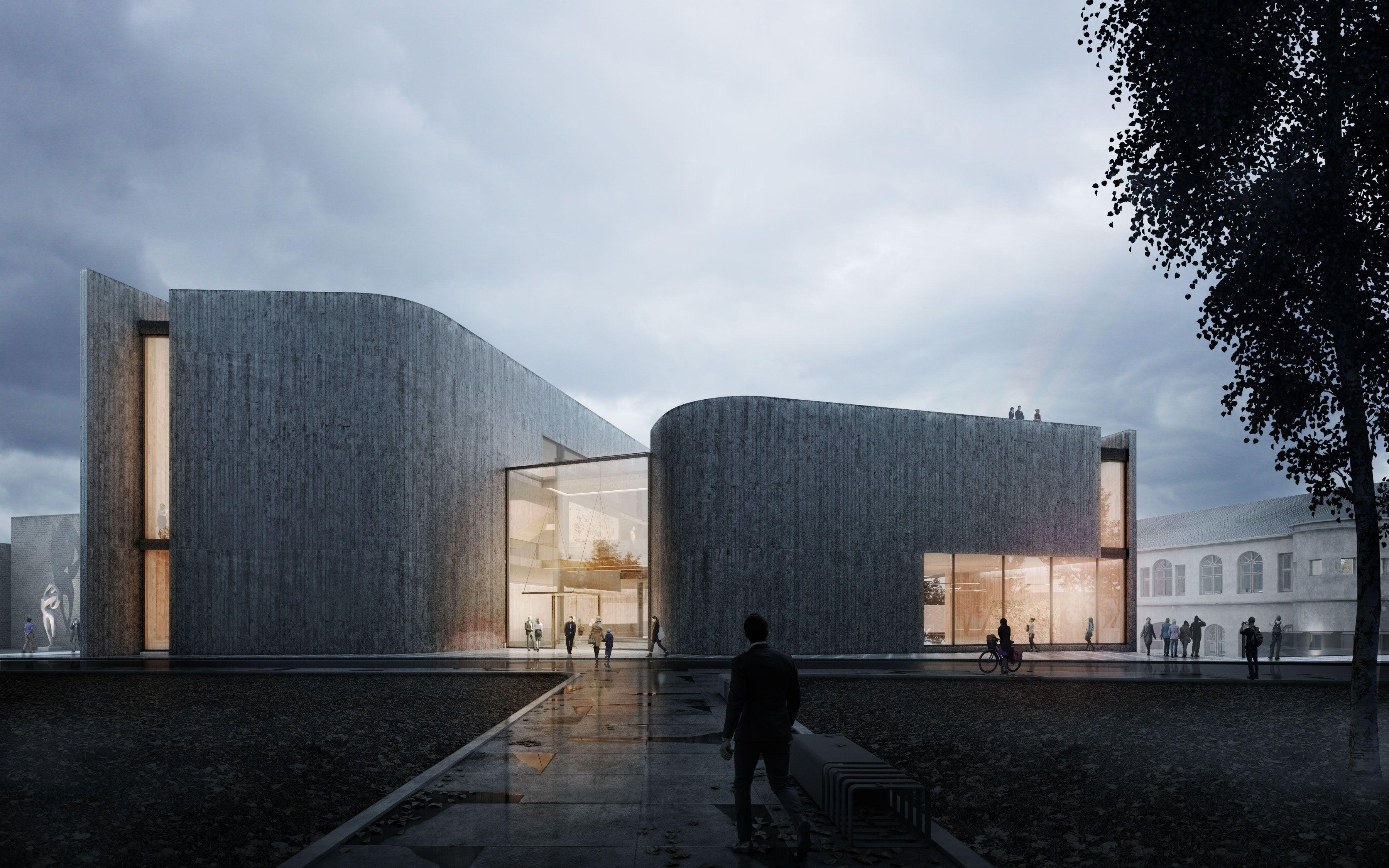 Modern Art Museum On Behance Art Museum Architecture Museum Of Modern Art Art Galleries Architecture