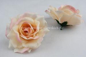Roza Wyrobowa Tradycyjna Glowka 12szt Morelowy Odc Rozowego Floral Rings Floral Rose