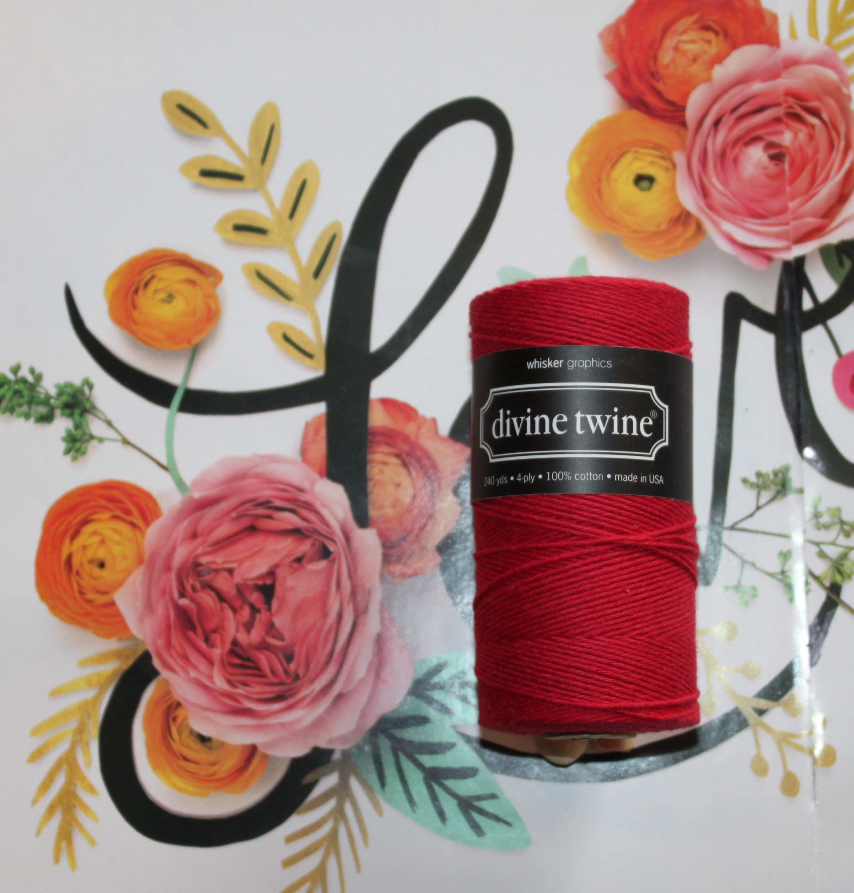 Solid Red Divine Twine™ Collection, Bakers Twine, Gift