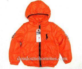 372a4e9b92e doudoune ralph lauren pas cher enfant orange
