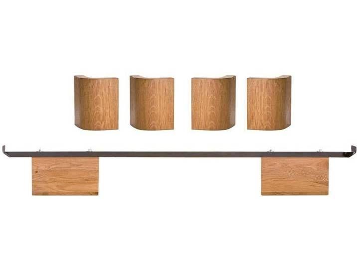 Hasena Fine-Line Füsse Airo 2er-Set / 20 cm / 200 cm / Buche weiss dec