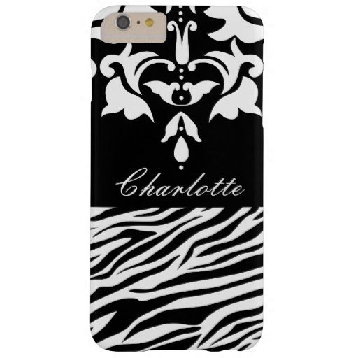 Personalized Black and White Damask and Zebra Pattern iPhone 6 Plus case from #Ricaso