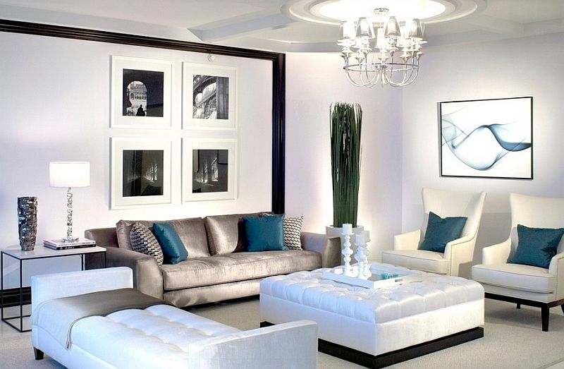 Perfect Black White Blue Living   Google Search