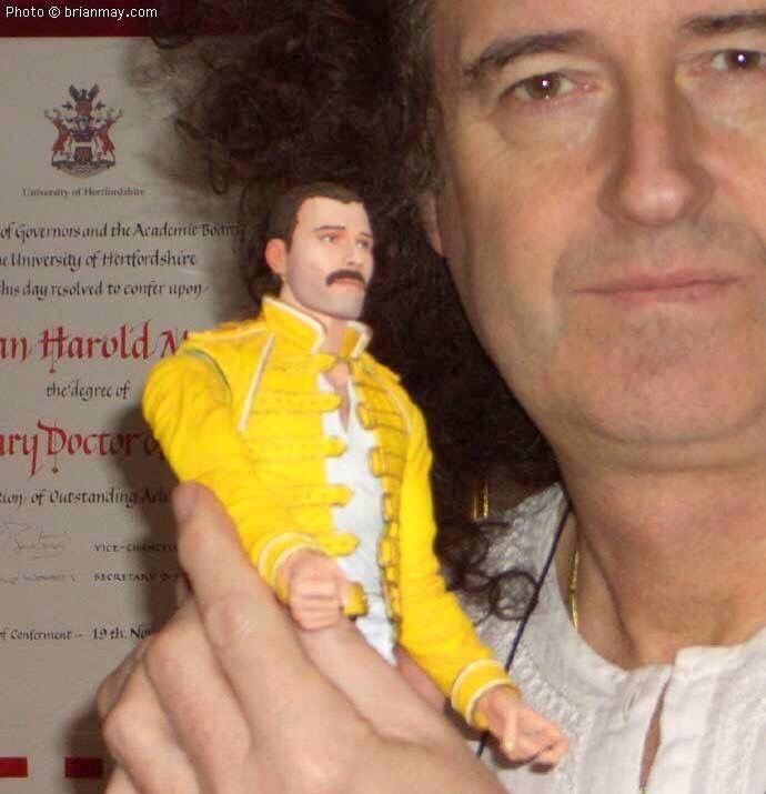 A bit weird, a grownup man with doll  Bri with Fred doll