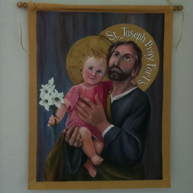 St Joseph Wall Hanging Art Hanging Art Art Painting