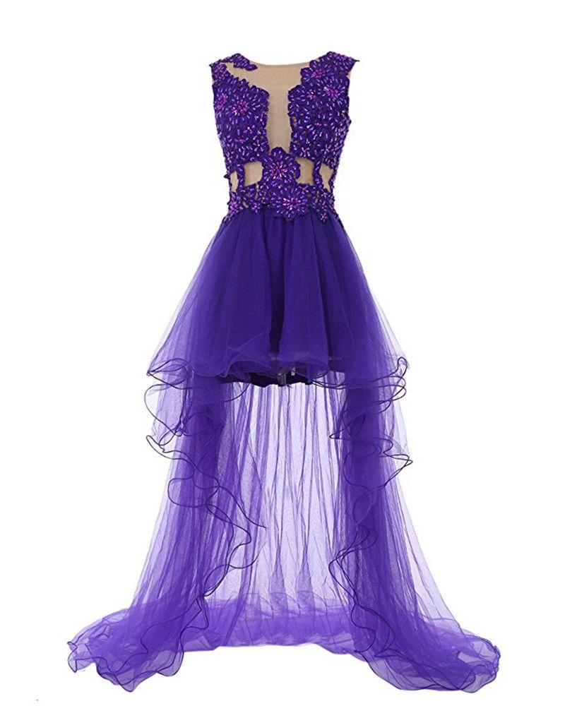 High Low Abendkleid 2017 Vestidos De Gala Curto Sexy See-Through ...