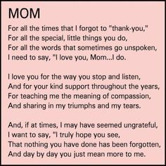 My Idol My Mom Happy Birthday Mom Quotes Thank You Mom Quotes Mom Quotes From Daughter