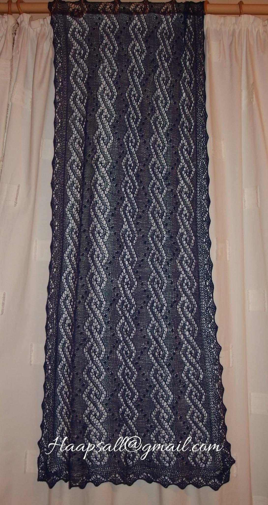 Haapsalu shawl, Rhomb-spiral pattern | Haapsalu shawls ...