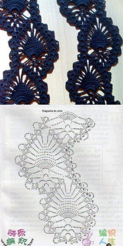 piñas en ziczac | Crochet | Pinterest | Elegante, Tejido y Ganchillo