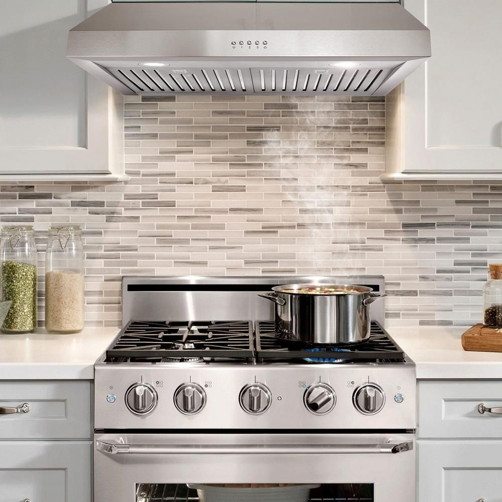 cosmo 30 in ducted under cabinet range hood in stainless steel with rh pinterest com