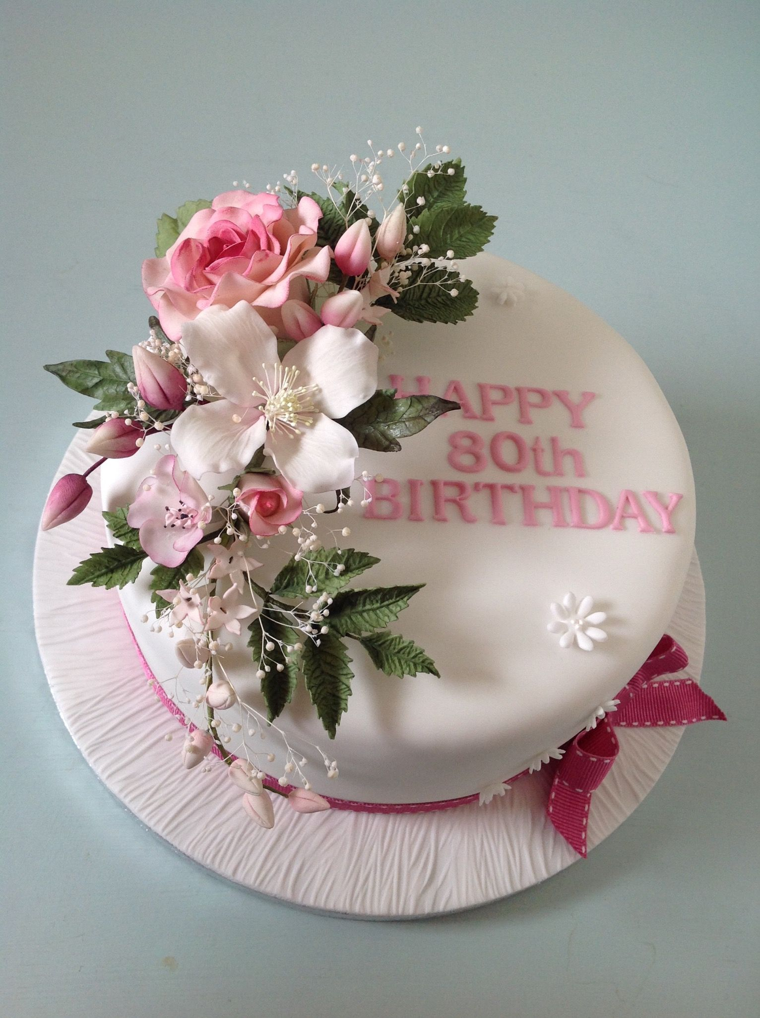 Rose Clematis Spray Of Flowers Birthday Cake Rose Birthday Party