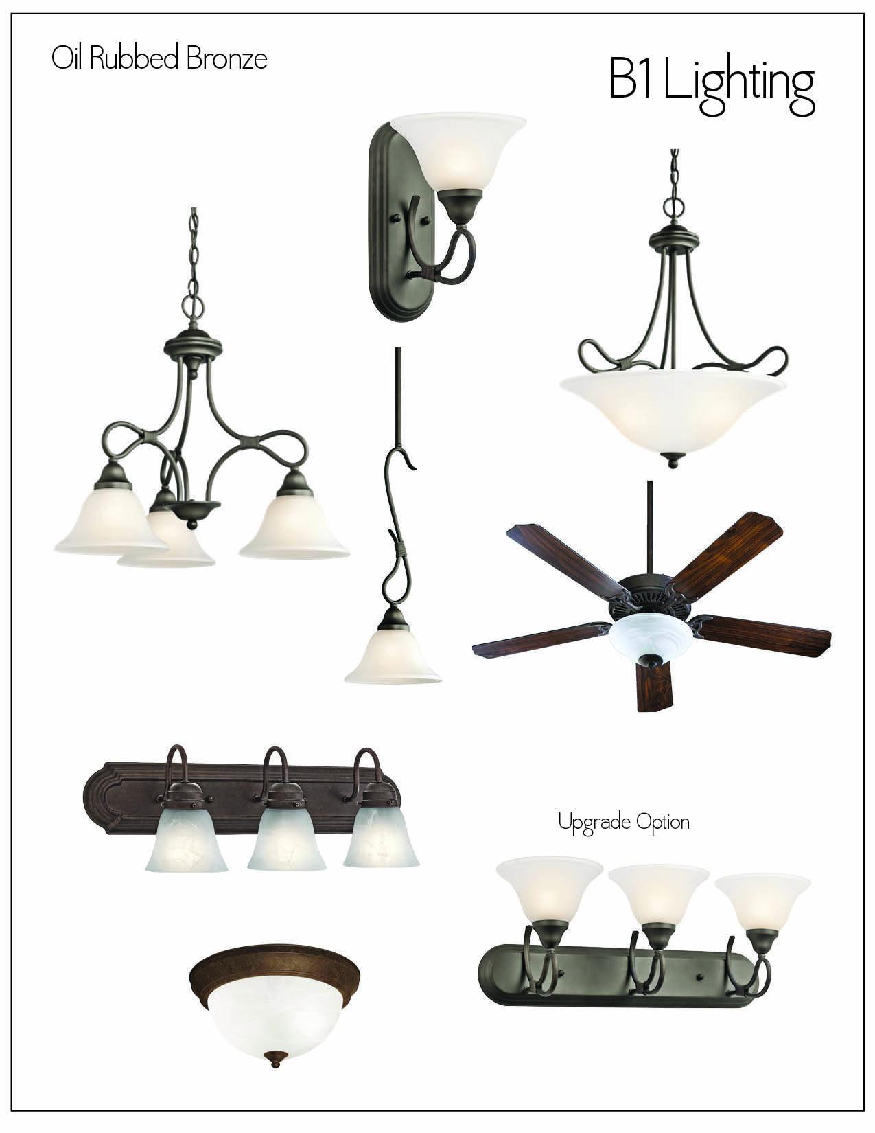 lighting kichler stafford oil rubbed bronze lighting package