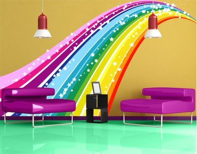Lovely Wall Decal No 620 Rainbow Wall Sticker Colours Spectrum