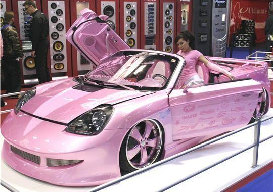 Jenxoadore Coches De Color Rosa Carros Rosas Vehiculo De Lujo