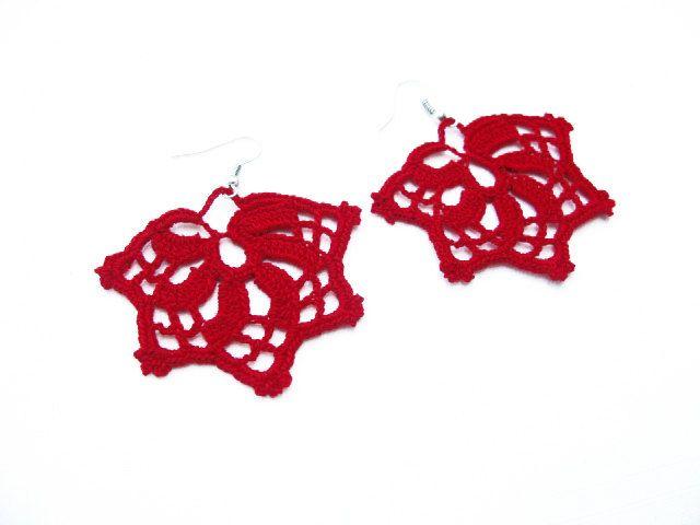 PDF Tutorial Crochet Pattern...Lace Dangle Earrings -7. $3.25, via Etsy.