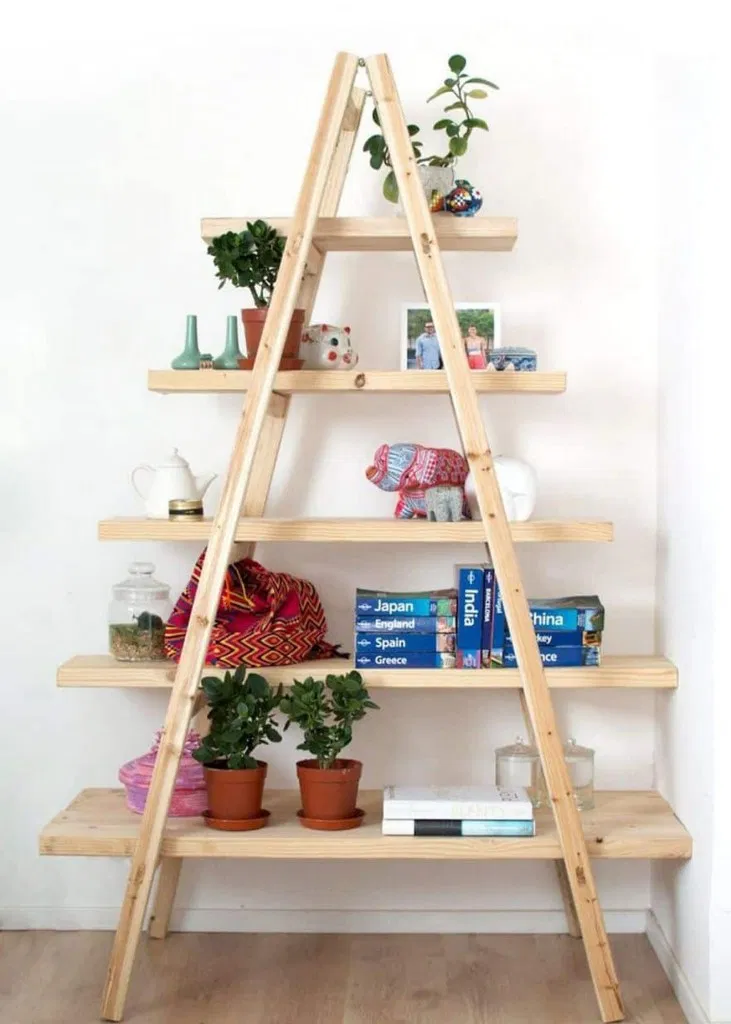 ❤15 Perfect Shelves Ladder for Your Bedroom Decoration #shelves #ladder #decoration #bedroom #roomdecor | flamming.com