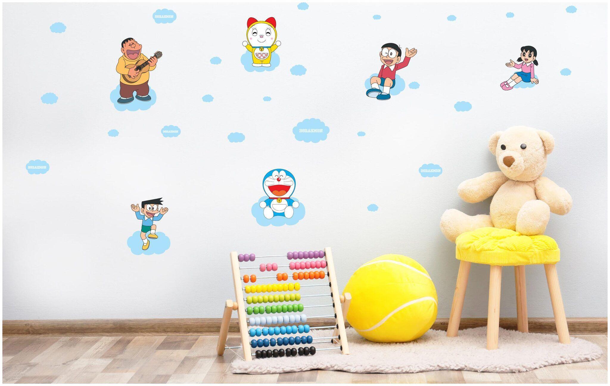 Wallpaper Paper Case Doraemon Asian Paints Wall Ons Original Doraemon Xxl Dorami Nobita And Shizuka In The Sky Removable Wall Sticker 115 Best Doraemon Images