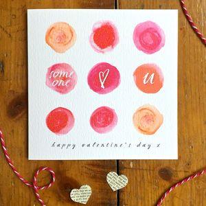 Watercolour Circles Someone Loves U Valentine S Card Watercolour