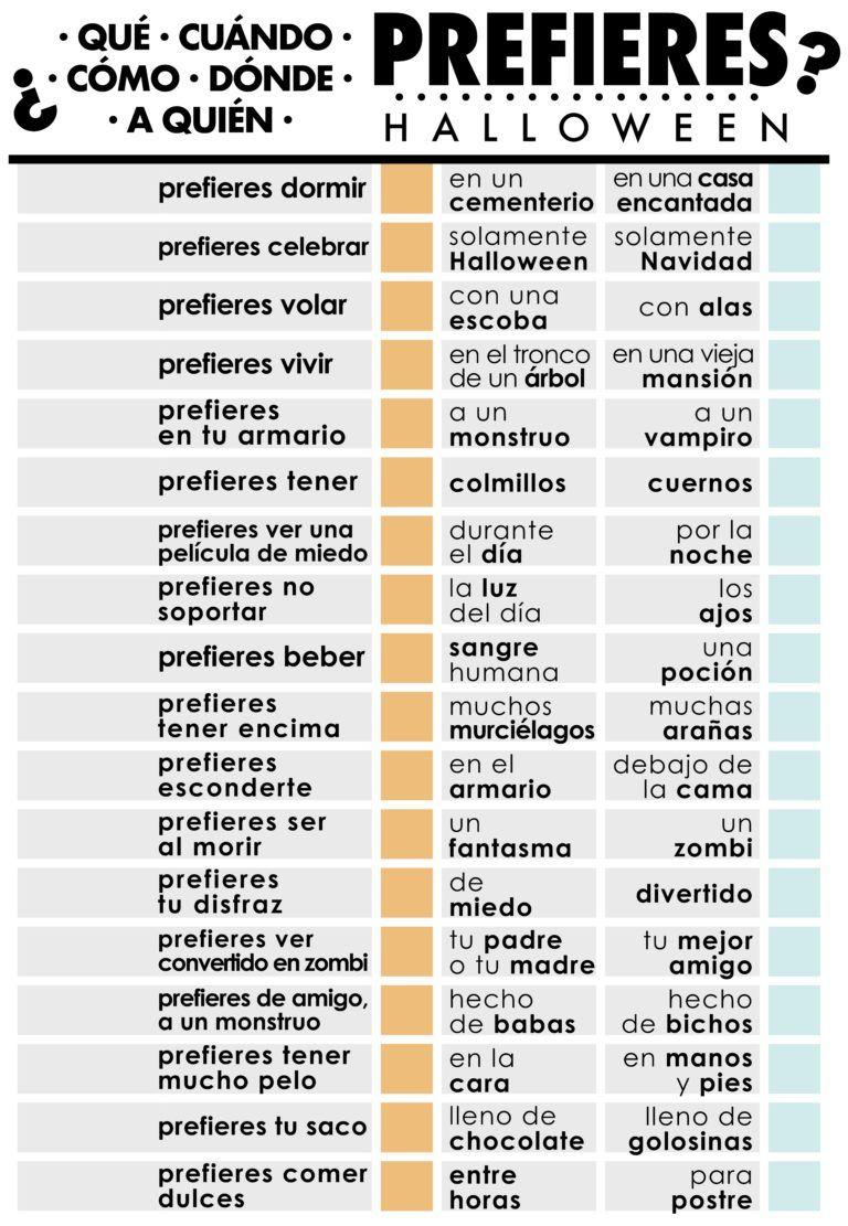 Jardín De Idiomas Pronombres Interrogativos Actividades Para Clase De Español Verdad Y Reto