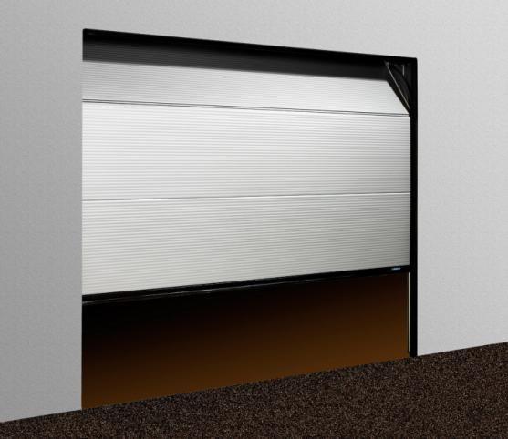 Porte De Garage Sectionnelle Micro Rainure En Aluminium De Couleur - Porte de garage aluminium