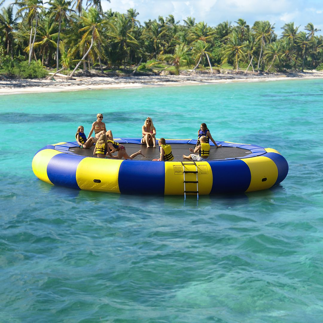 Water Trampoline In The Ocean This One Is 20ft But They Come In