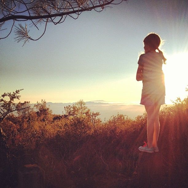 Watching the sunset at Mt. Diablo.  By: mamaland