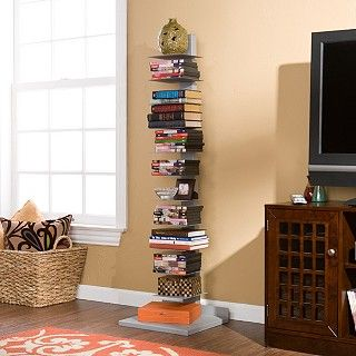 Enhance Your Home Decor With This Elegant Spine Book Tower Use Unique Shelf As An Artistic Focal Point In Room The Tall Slender Design Of