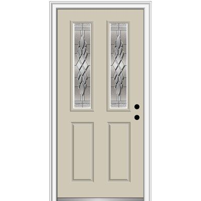 Verona Home Design Fibreglass Smooth 2 1 2 Lite 2 Panel Single Entry Door House Design Entry Doors Wood Exterior Door