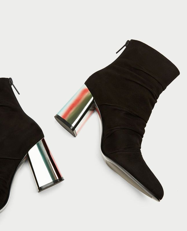 Botki Zara Boots Leather Ankle Boots Bootie Boots