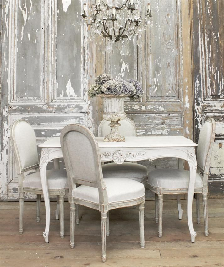 Dining tables french country table and rooms lots things for Salle a manger shabby chic