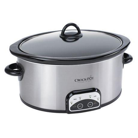 Crock Pot 4 Qt Oval Programmable Slow Cooker Sccpvp400s 033