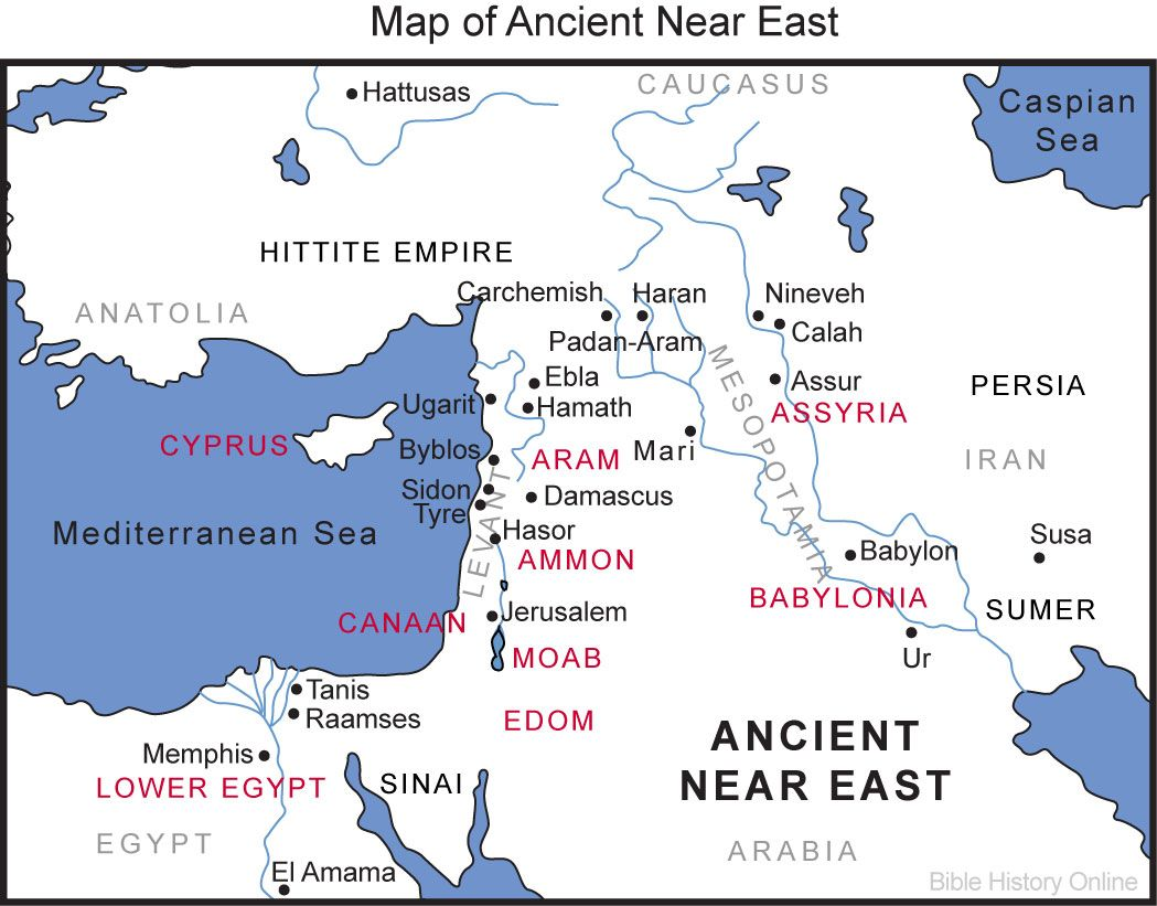Map of the ancient near east mystery of history volume 1 mohi0 map of the ancient near east bible history online gumiabroncs Gallery