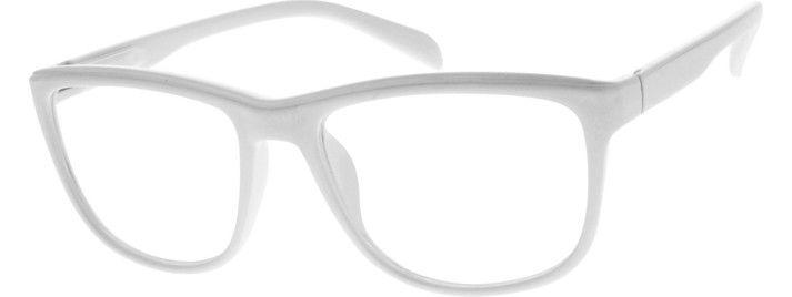 plastic full rim frame with spring hinges 287830 - White Frame Eyeglasses