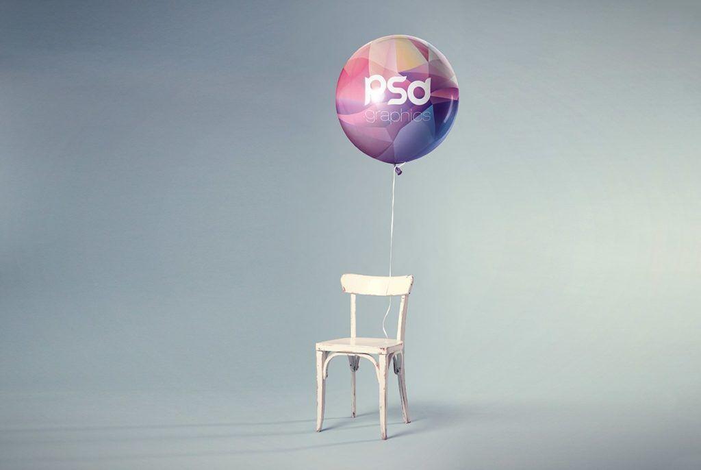 Free balloon mockup