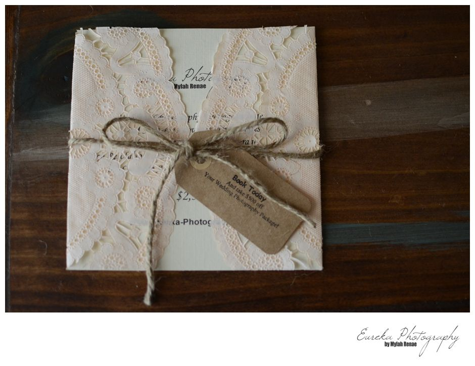 How to make your own wedding invitation Rustic Vintage Lace