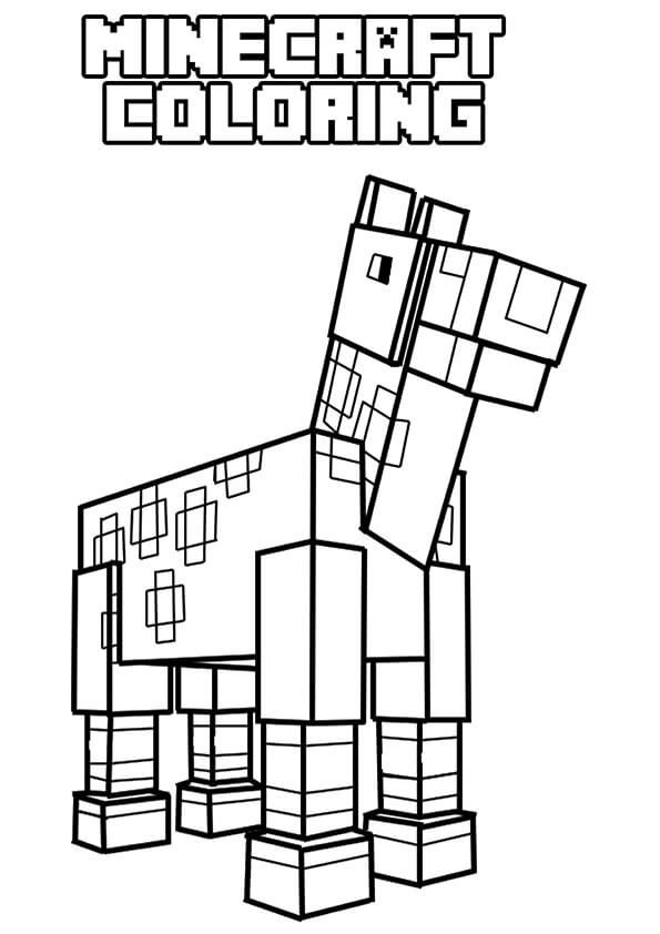 Pin By Scribblefun On Minecraft Coloring Pages Minecraft Coloring Pages Horse Coloring Pages Coloring Pages